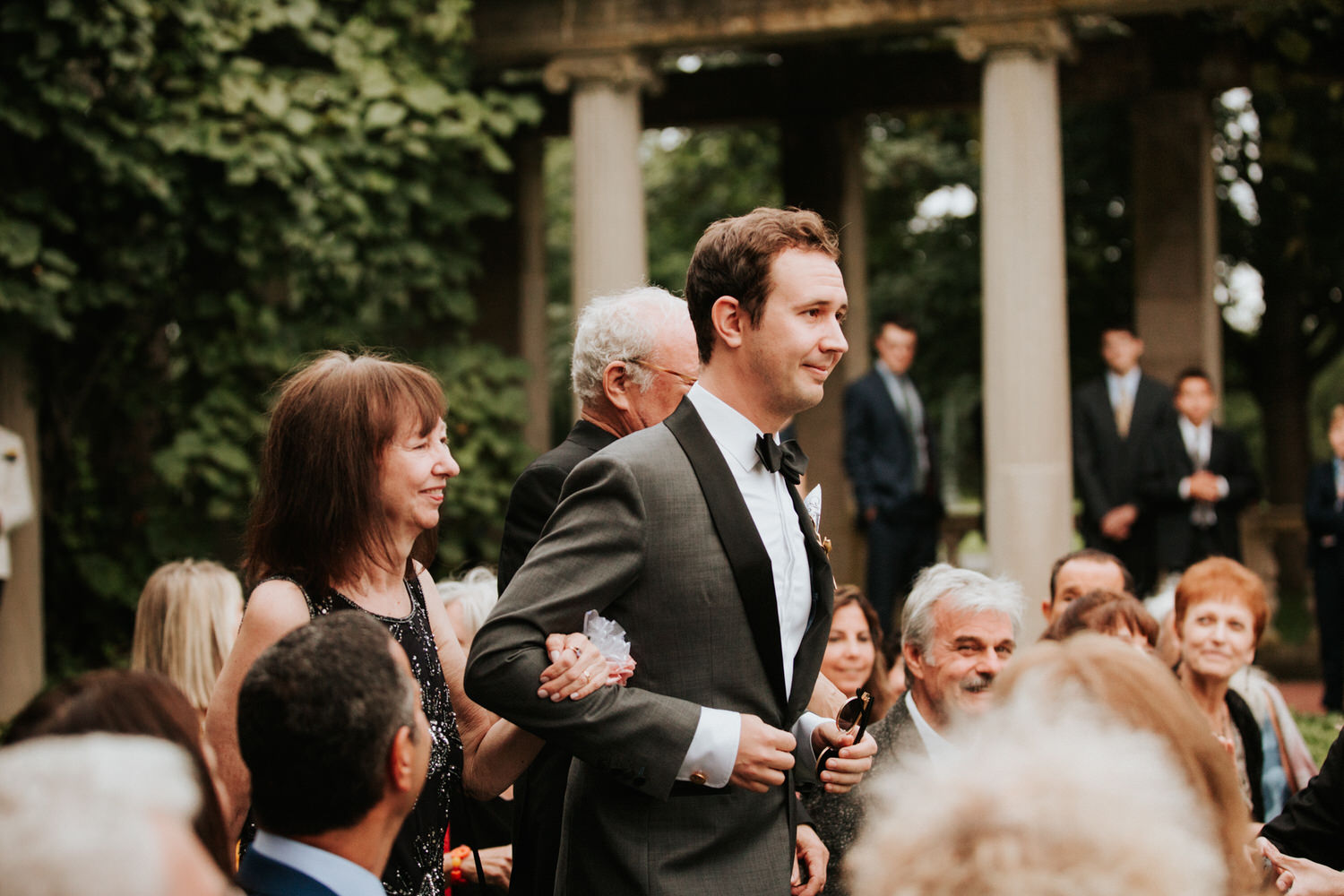 Guests at Eolia Mansion glamour wedding