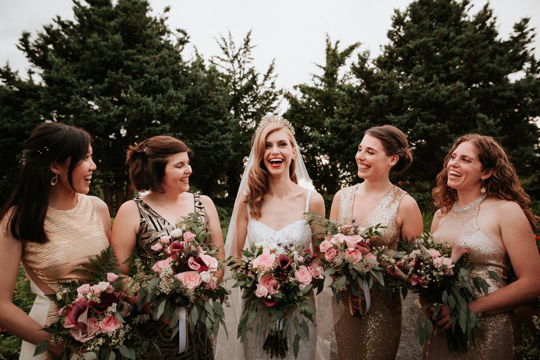Eolia Mansion glamour wedding party