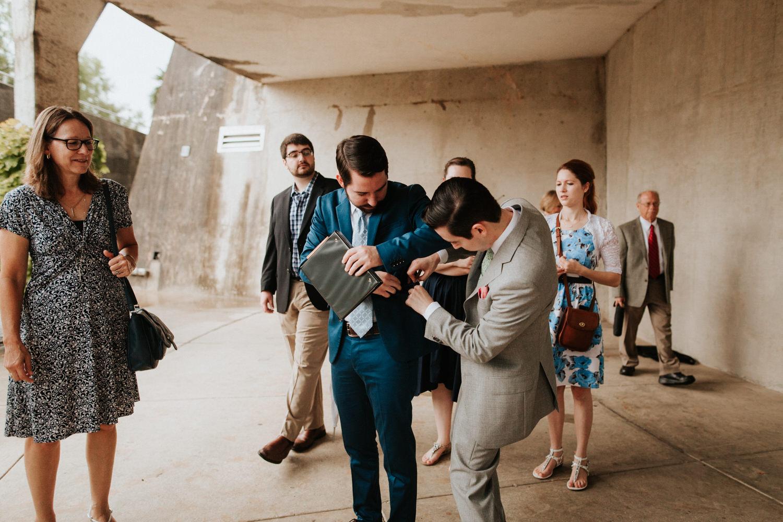 Guests at San Antonio Botanical Garden Wedding