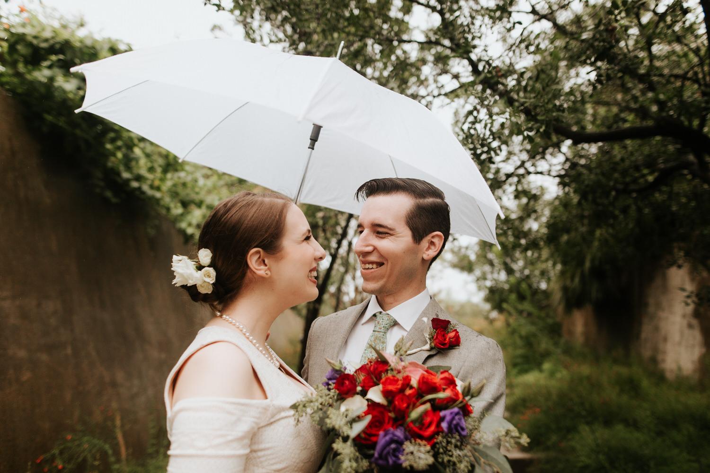 Rainy San Antonio Botanical Garden Wedding