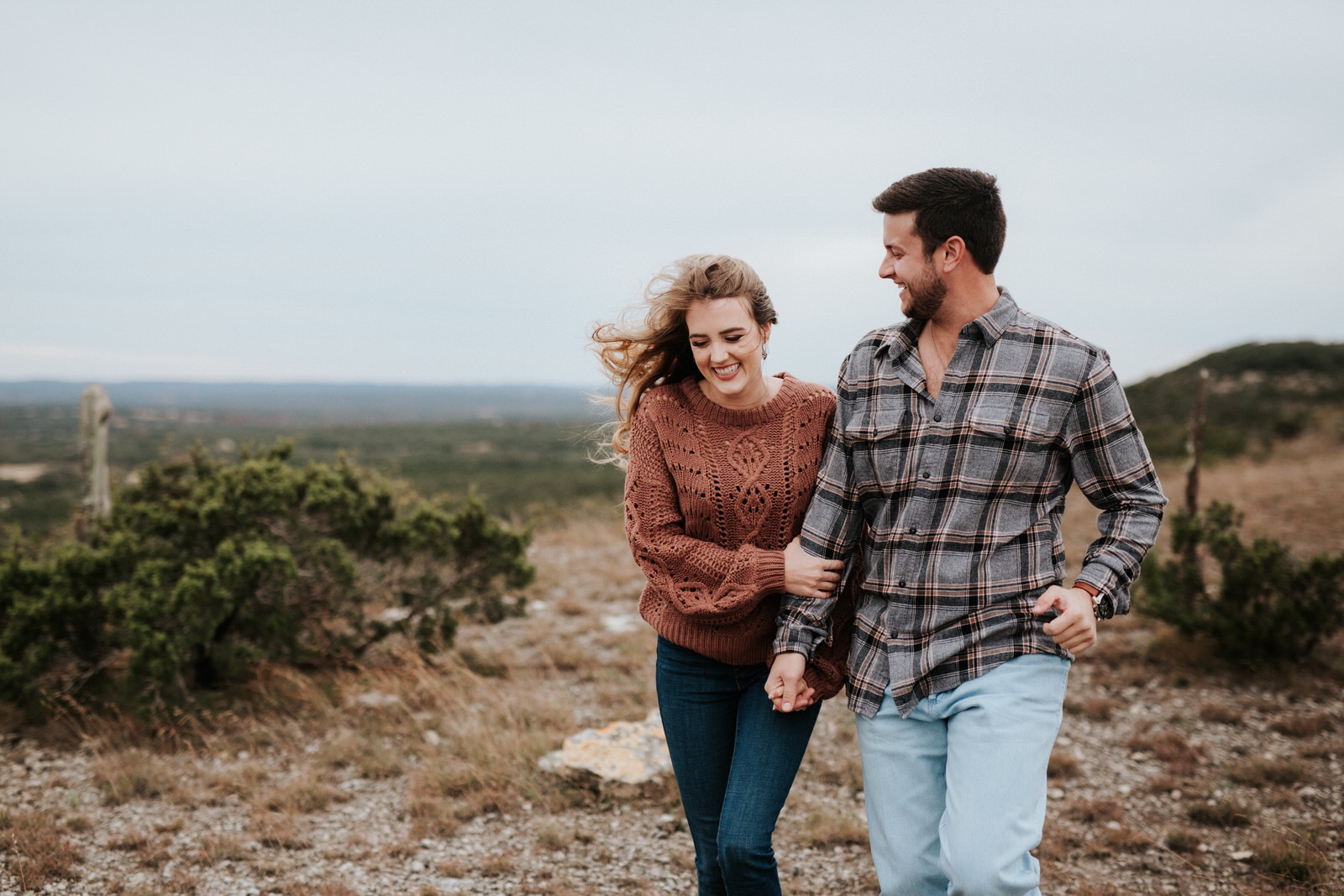 Rugged Austin engagement session