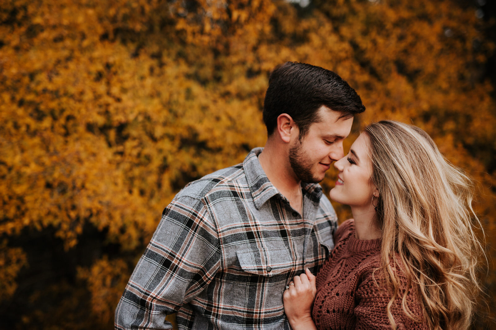 Rugged Austin fall engagement session