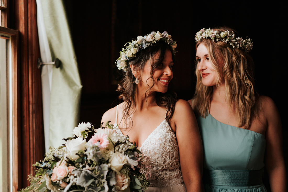 Bride at upstate New York Catskills wedding