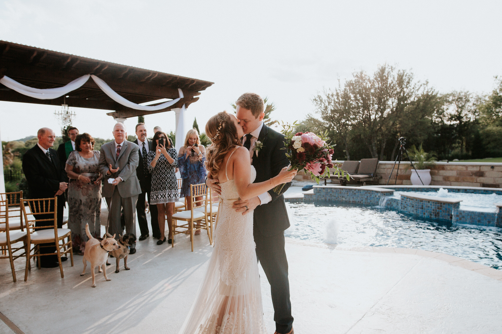 Austin luxury backyard wedding