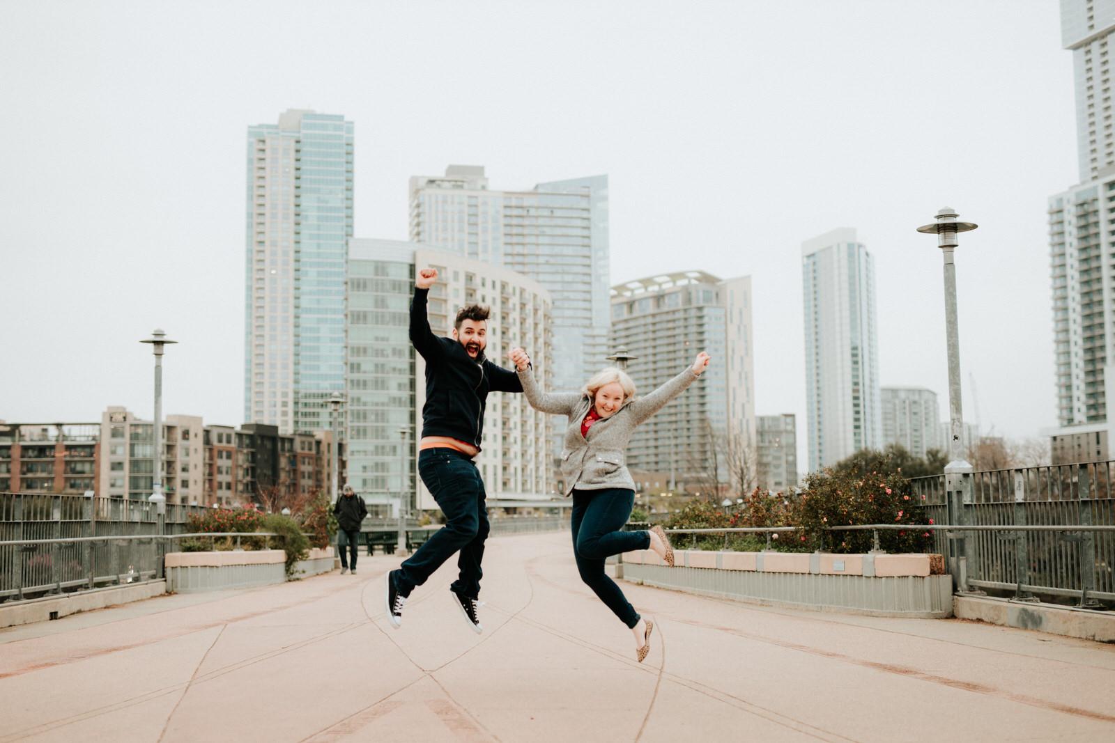 Austin pedestrian bridge proposal photography