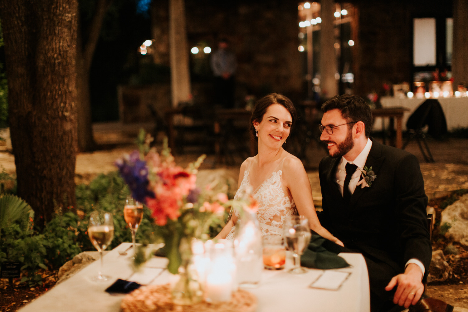 Austin Wildflower Center Wedding reception photography