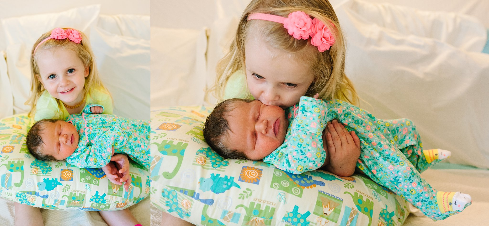 She's already got this big sister thing down!    Hat & floral wrap:  Oh So Vera