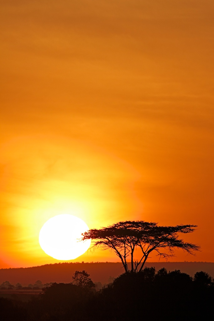 Kenyan Sunset - Shot with a 12 Megapixel Camera and 17-40mm lens