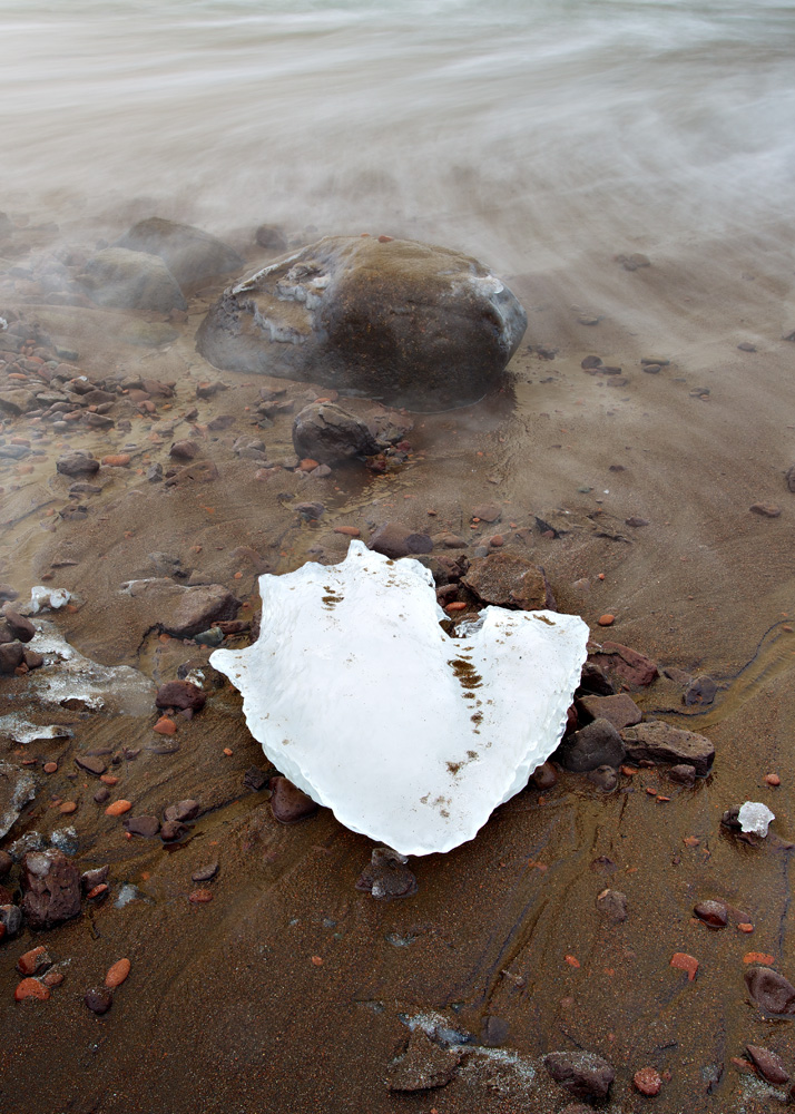 Ice, Rocks & Water - Lake Superior, MN   Canon 5D Mark III + Canon 17-40L @ f16