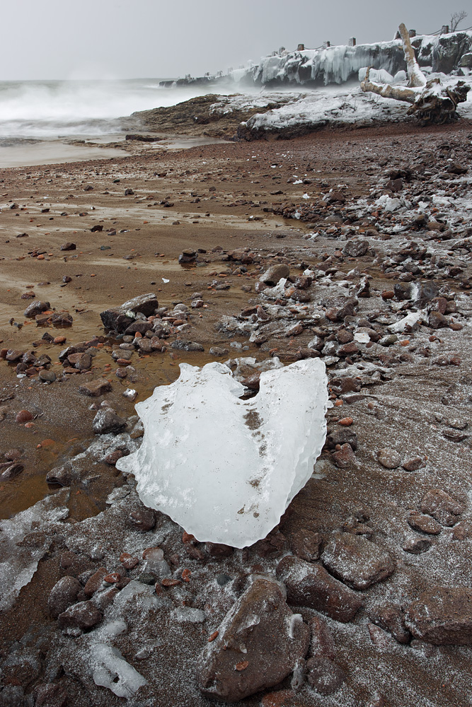 Ice Block on Lake Superior (-7 ℉)