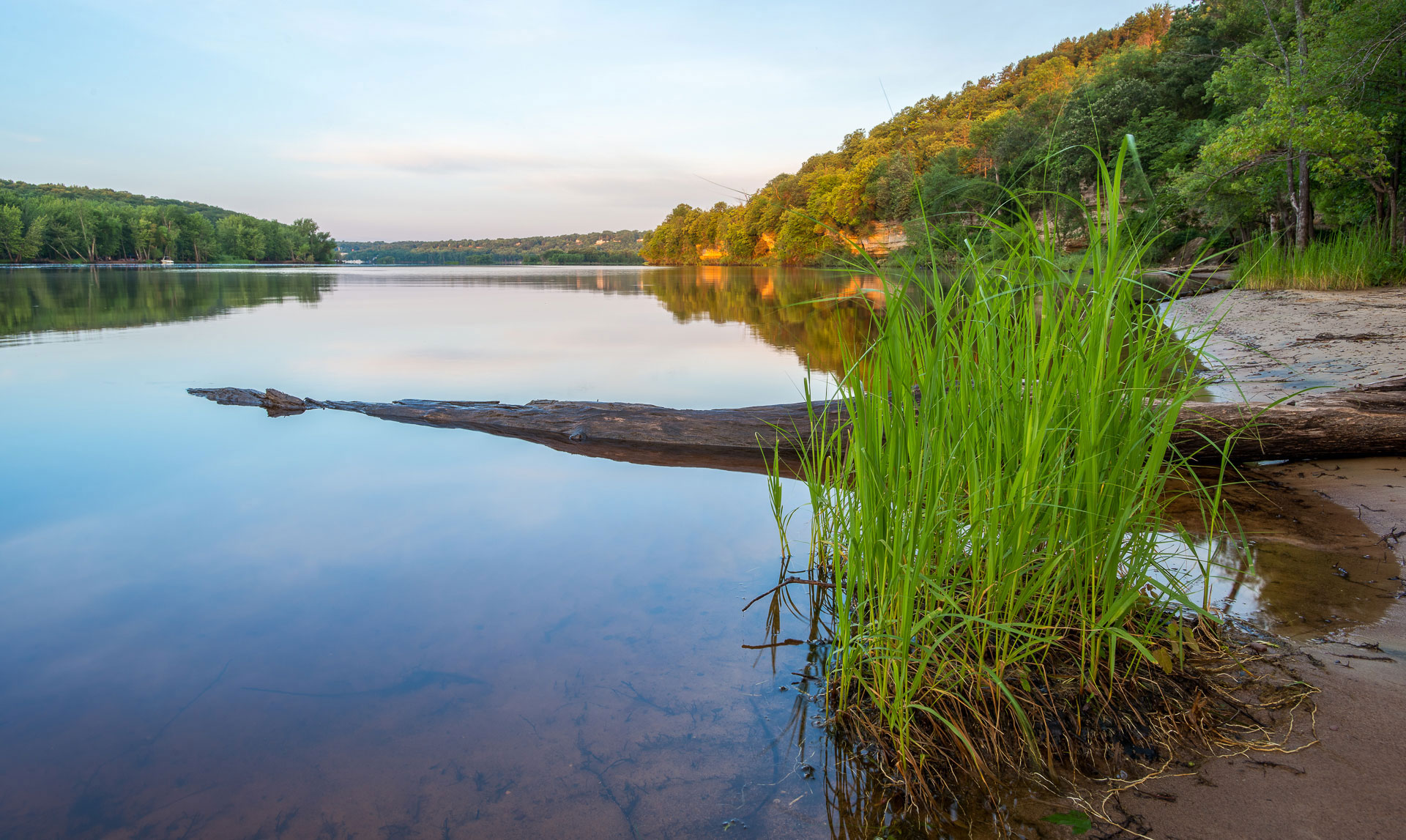 Sunrise on the St. Croix River  Shot with a Nikon D800E & 17-35mm f2.8 mounted to a Gitzo GT1932 Tripod