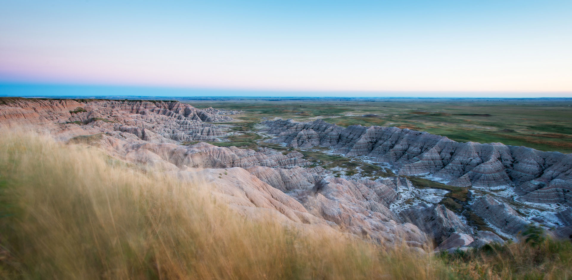 High Wind Sunset in Badlands National Park