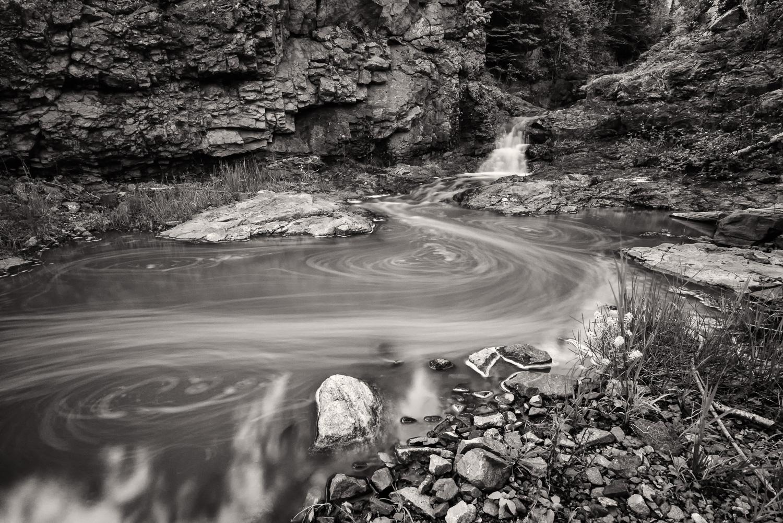 Swirling Fals - Sawtooth Mountains, Minnesota