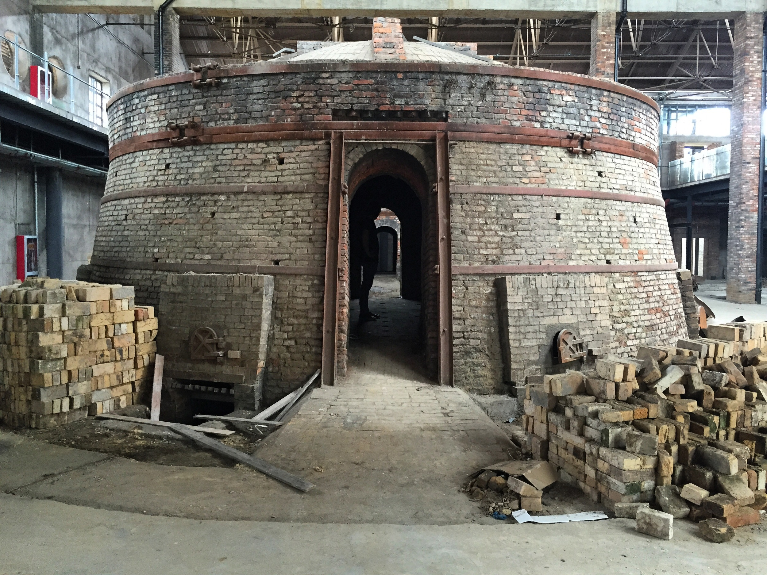 Remnants of Yuzhou Plate Factory   C oal-fired beehive kiln
