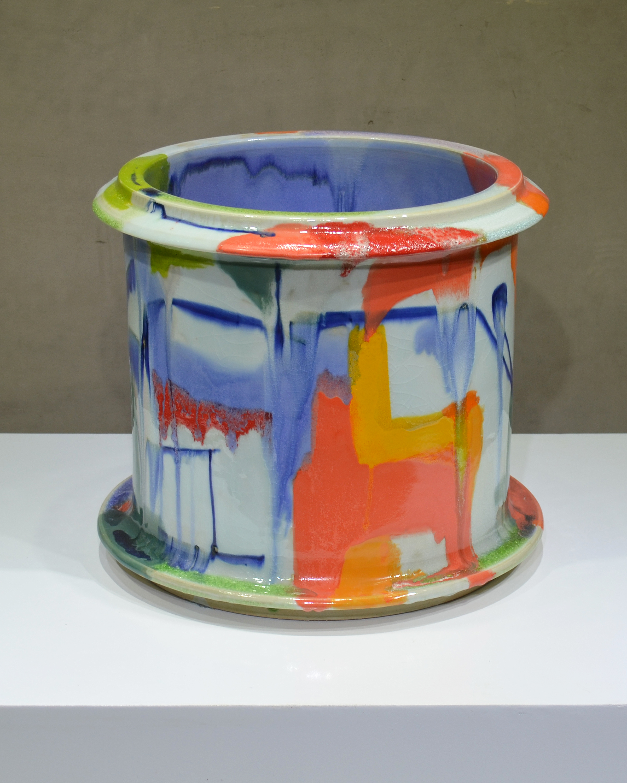 Cylinder  2015  14 x 14 x 14 in  Porcelain, glaze