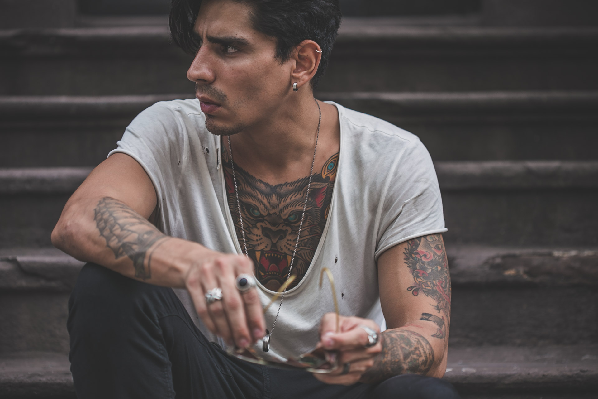 steampunk - rings - tattoos - menswear