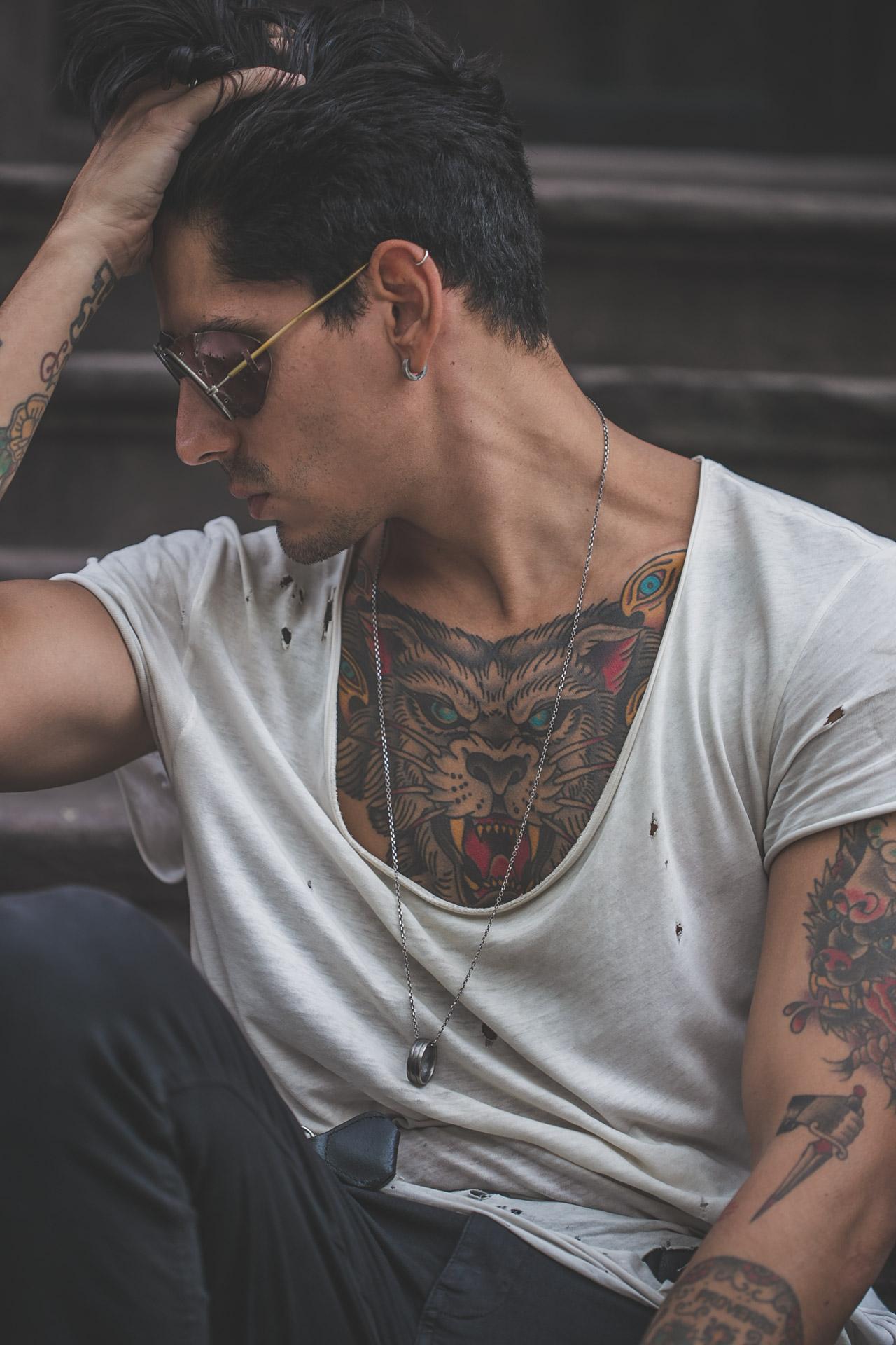 steampunk - tattoos - menswear