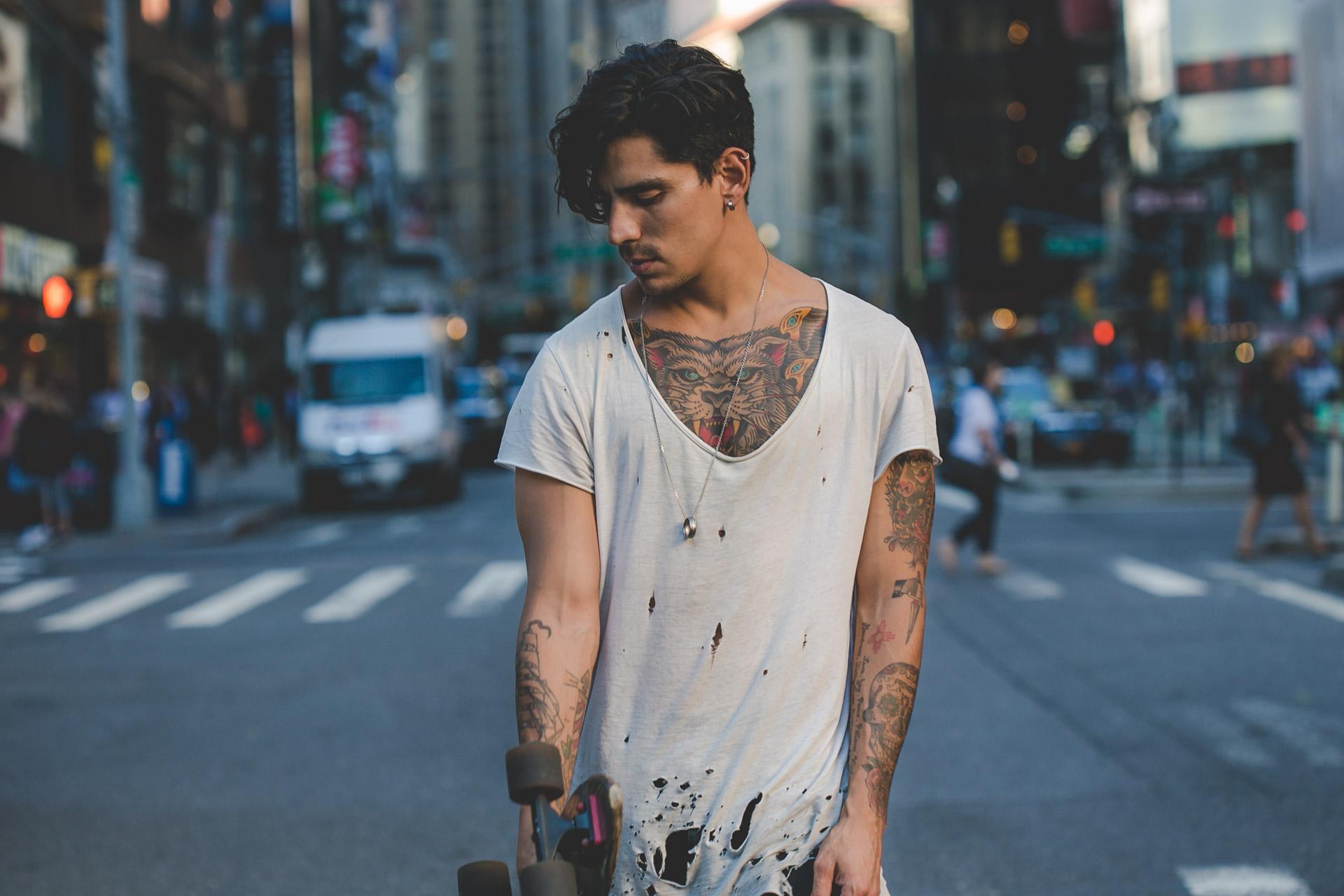 skate - tattoo - ootd