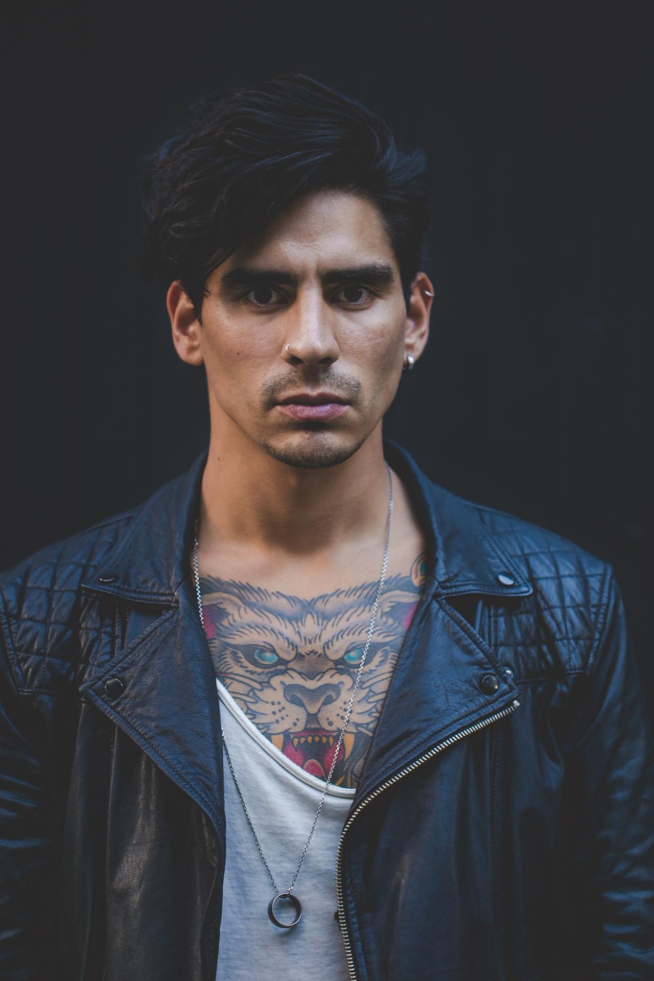 leather - tattoos - menswear