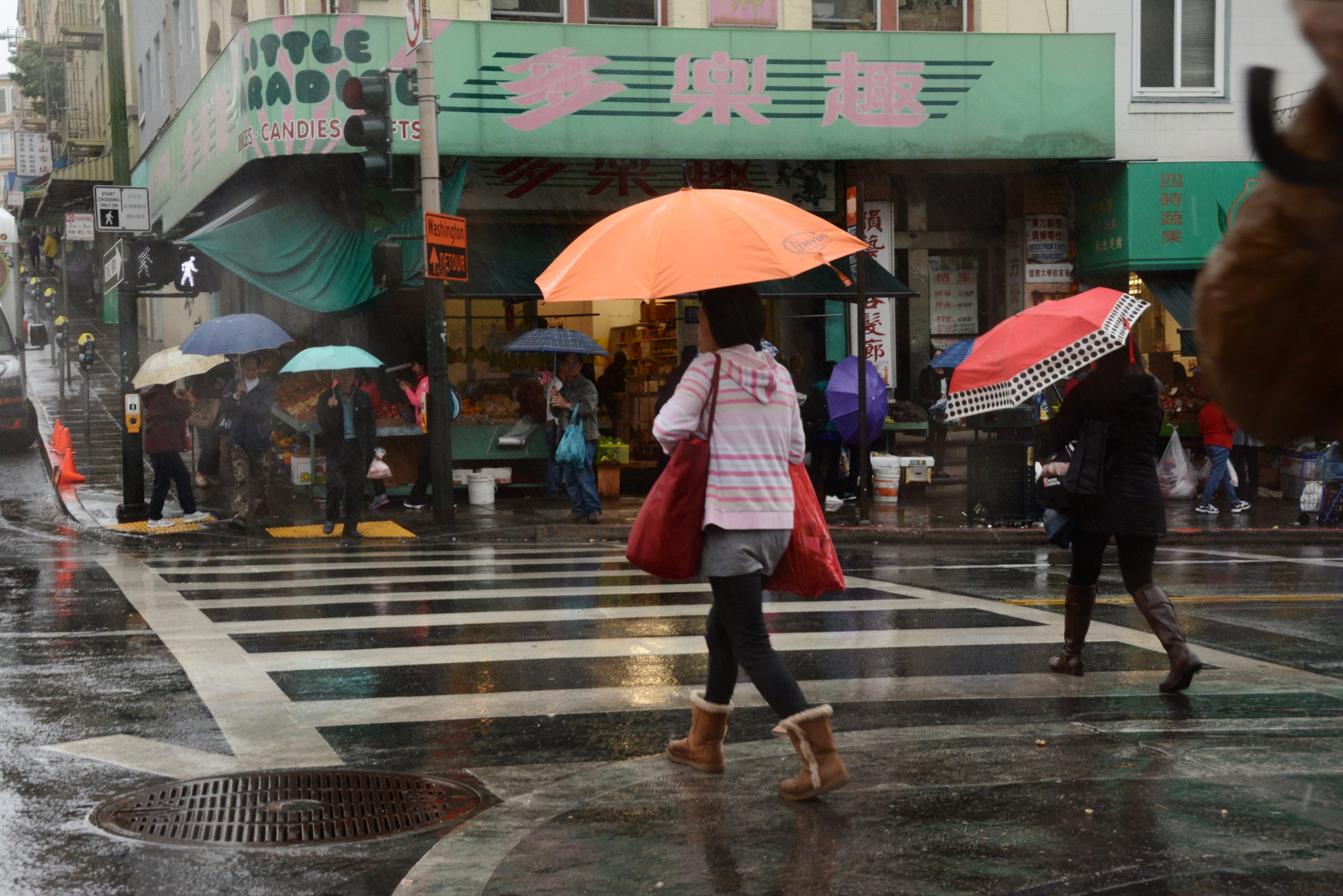 Yet another rainy day in Chinatown, San Francisco