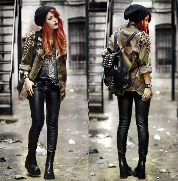 v2jxhc-l-610x610-jacket-luanna+perez-leather+pants-khaki-studs-beanie-military+style.jpg