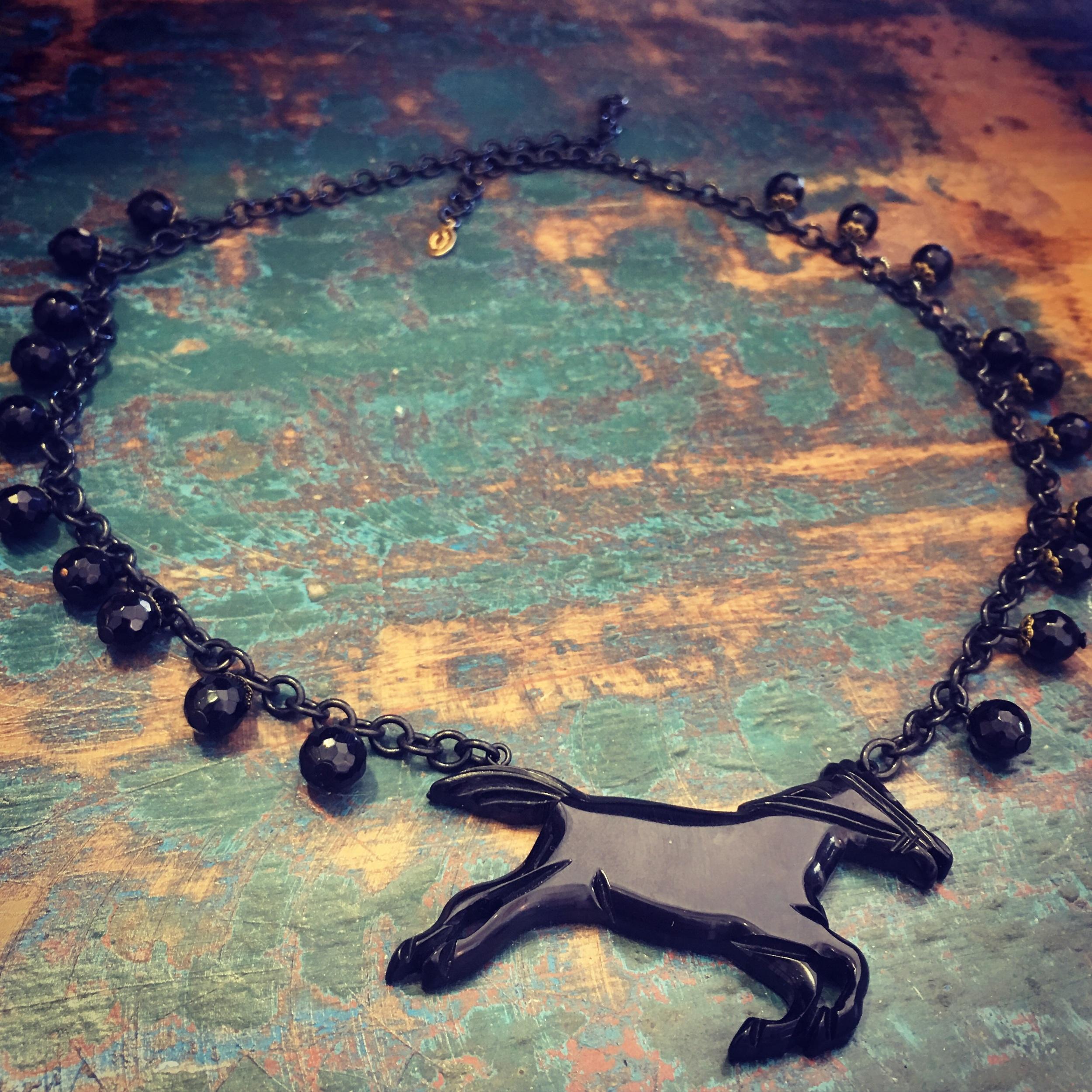 Black stallion with onyx.