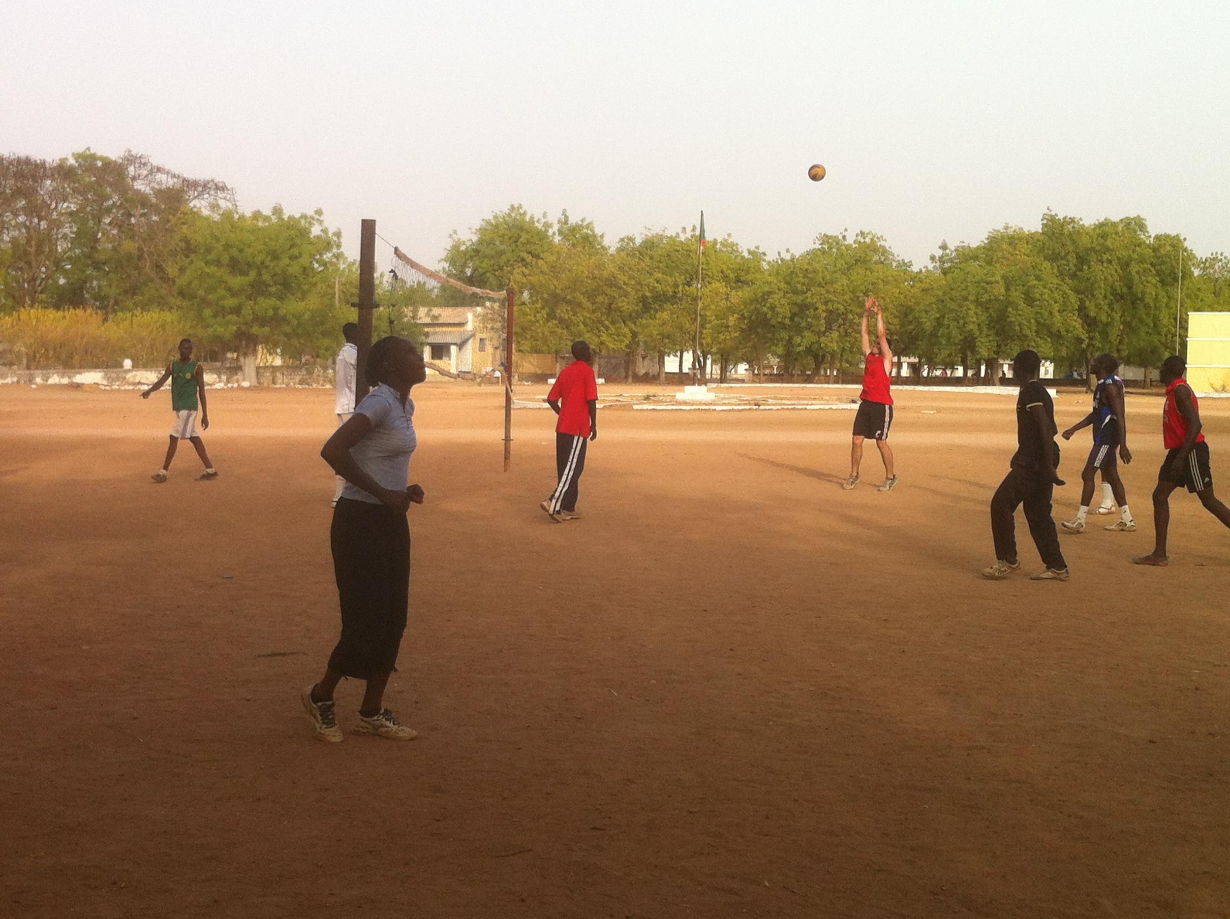 Volleyball team practice