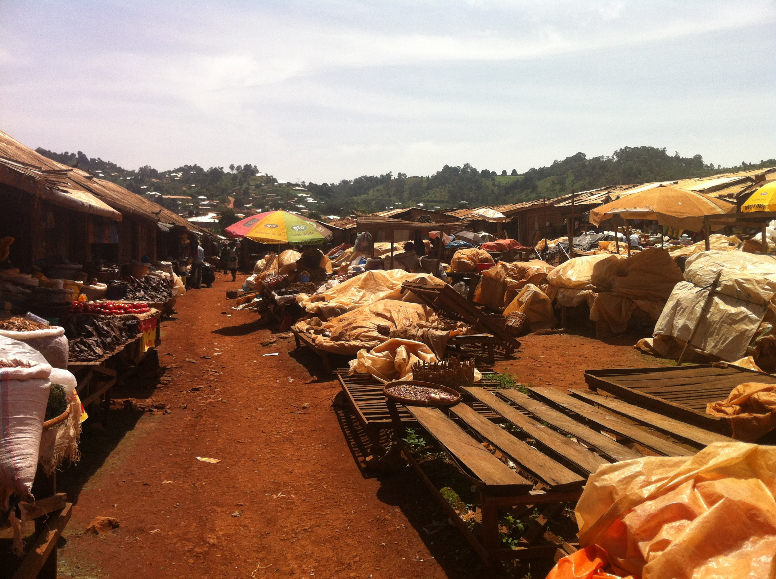 At a village market in the west