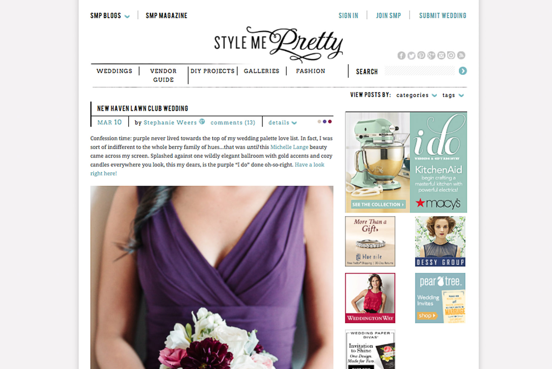 Published in Style Me Pretty New Haven Lawn Club