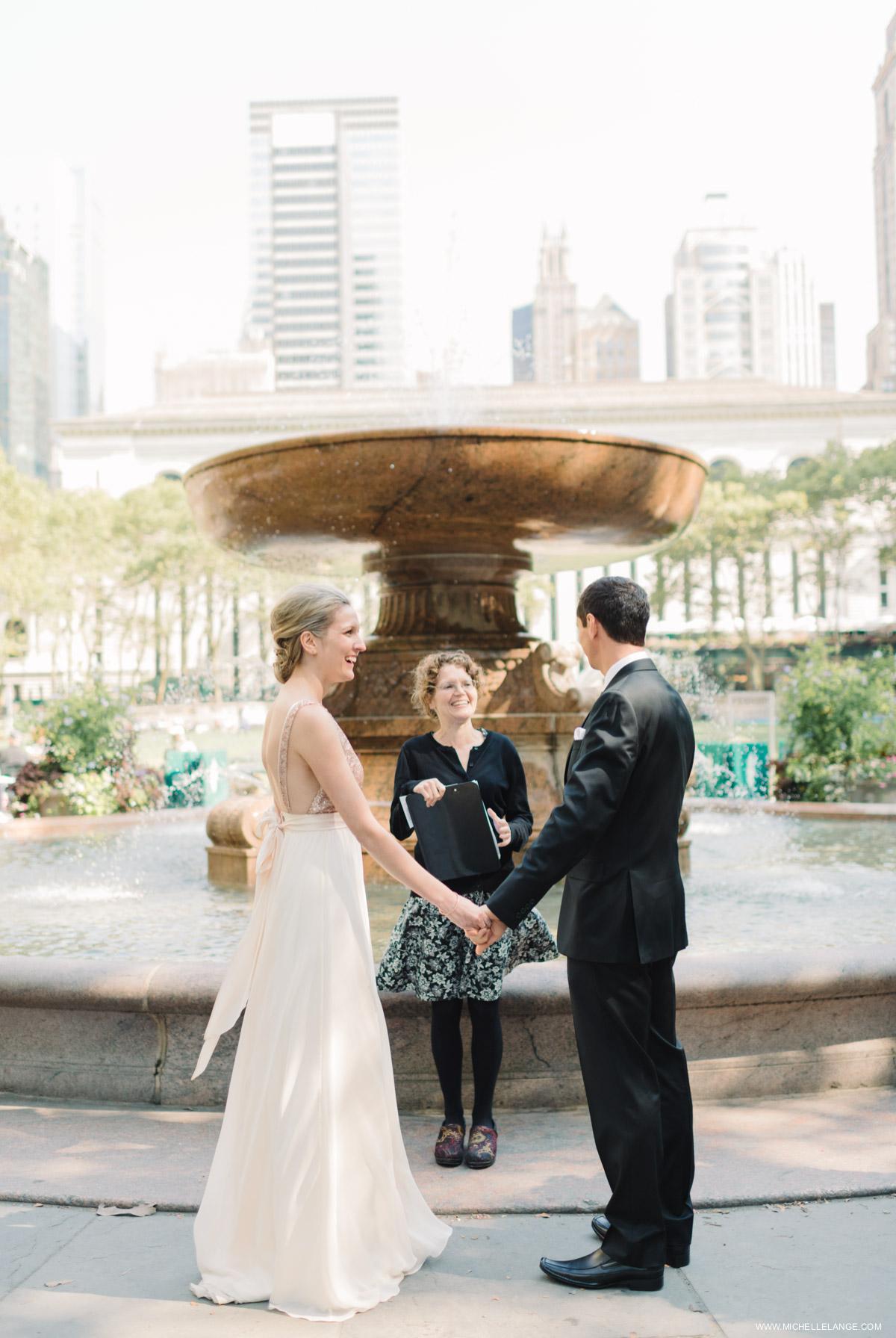 NYC Bryant Park Elopement Photographer