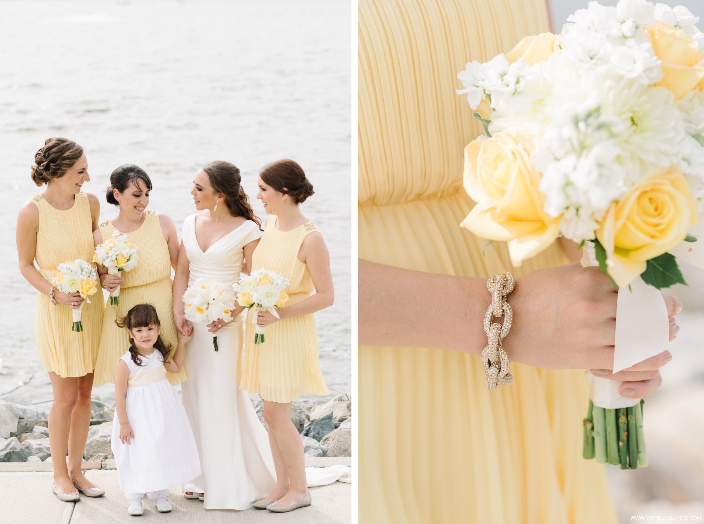 Yellow Bridesmaid Dresses New York Wedding Photographer