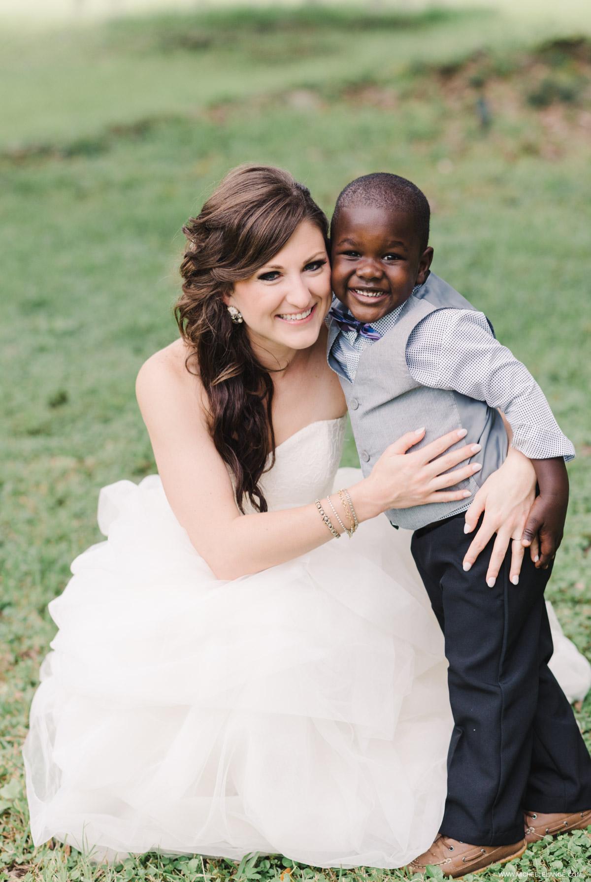 Ring Bearer and Bride Charleston Runnymede Plantation Wedding