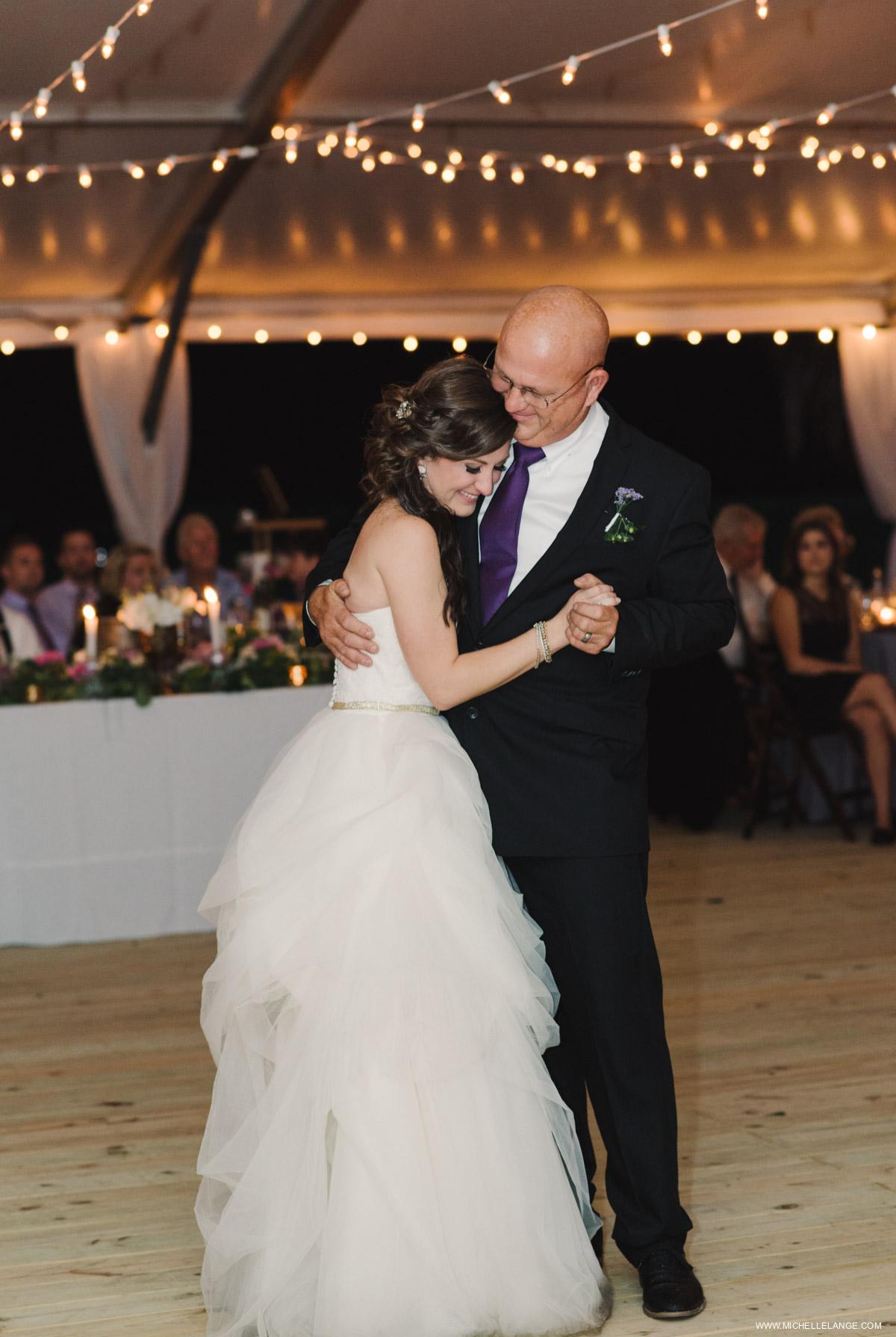 Tented Father Daughter Dance Charleston Runnymede Plantation Wedding