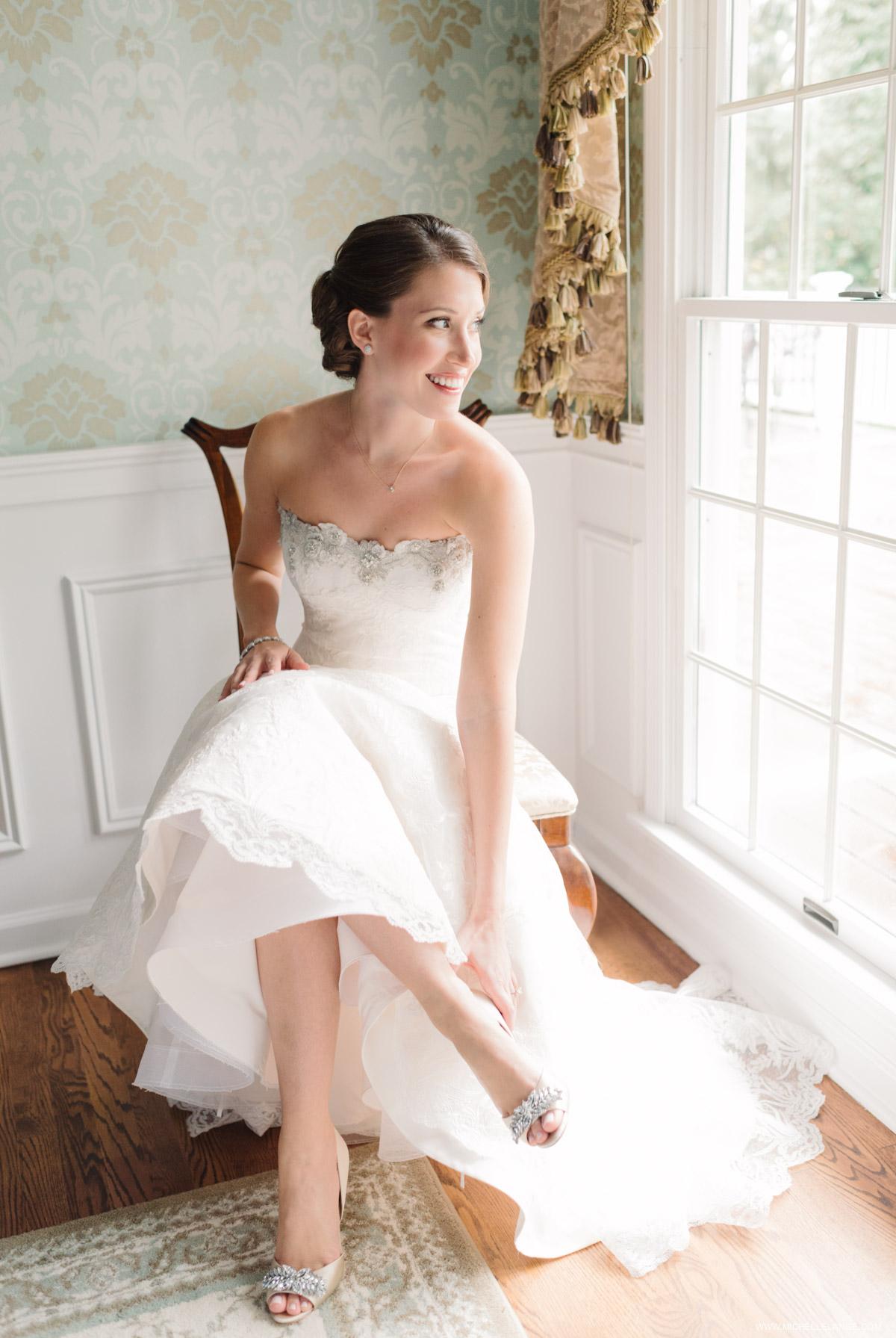 Bridal Portrait Riverhouse at Rumson Country Club Wedding