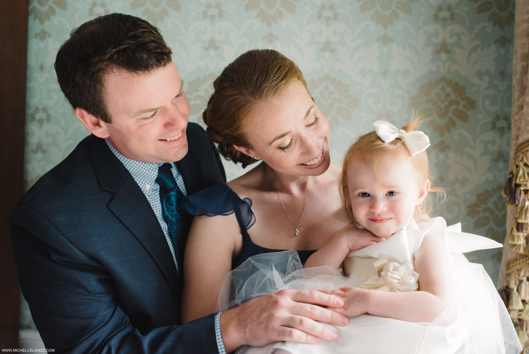 Flower Girl Family Riverhouse at Rumson Country Club Wedding