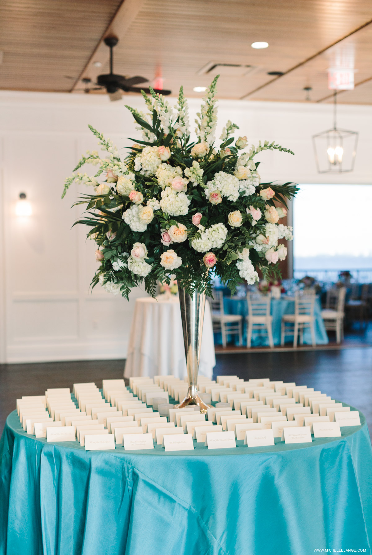 Escort Card Table Riverhouse at Rumson Country Club Wedding
