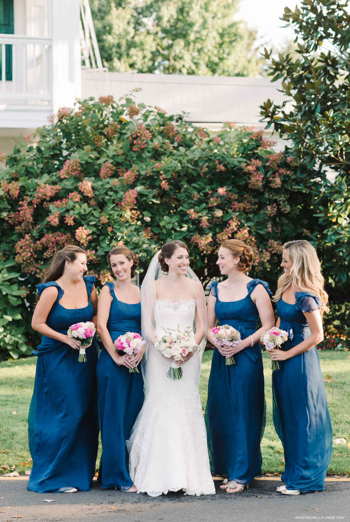 Navy Bridesmaid Dresses Riverhouse at Rumson Country Club Wedding