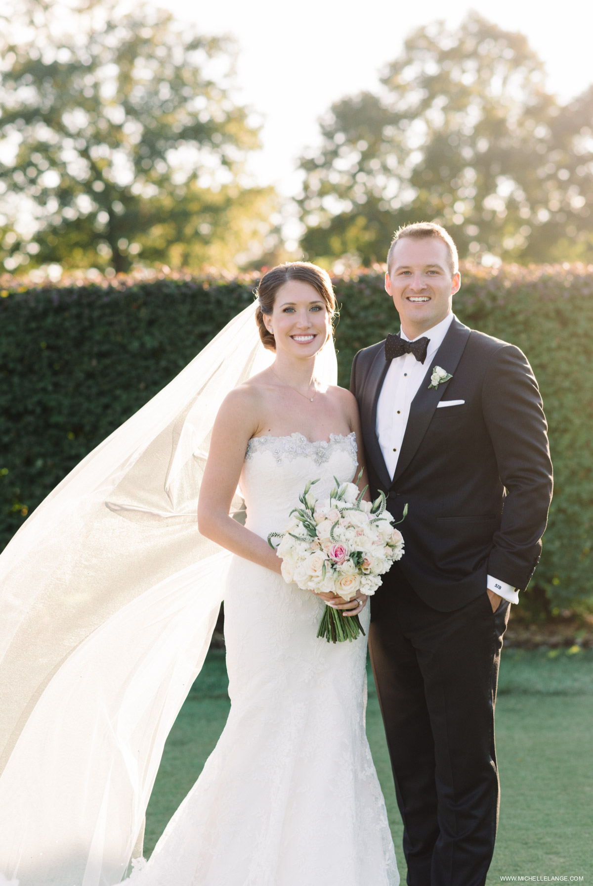 Bride and Groom Portrait Riverhouse at Rumson Country Club Wedding
