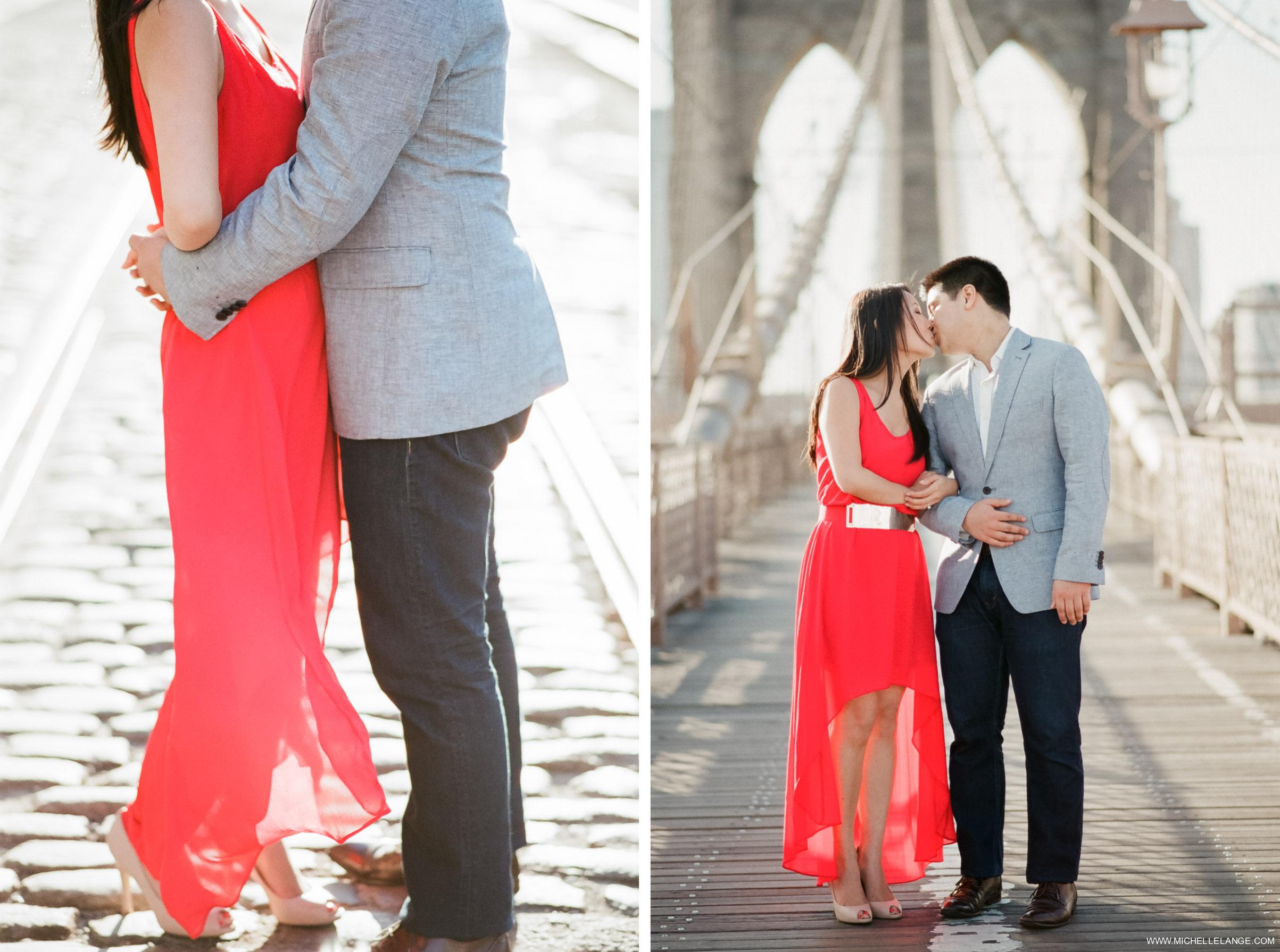 Brooklyn Bridge New York City Engagement Photographer