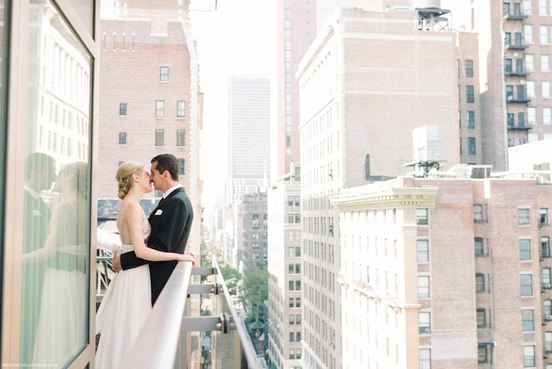 New York City New York Public Library Wedding