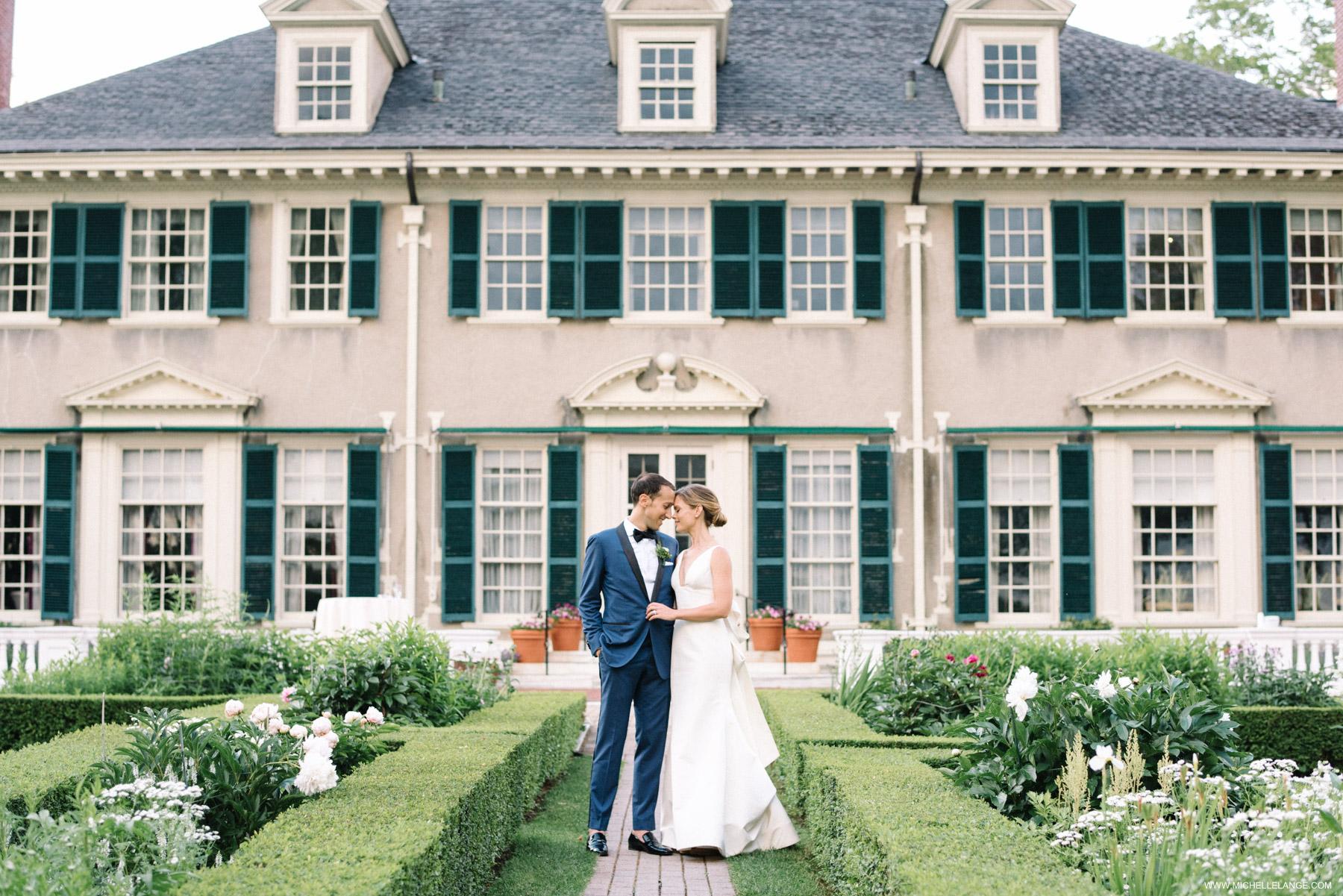 Hildene Estate Wedding Garden Photo in Manchester Vermont