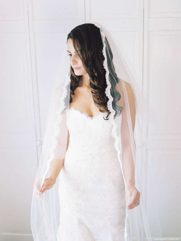 Bride in Monique Lhullier