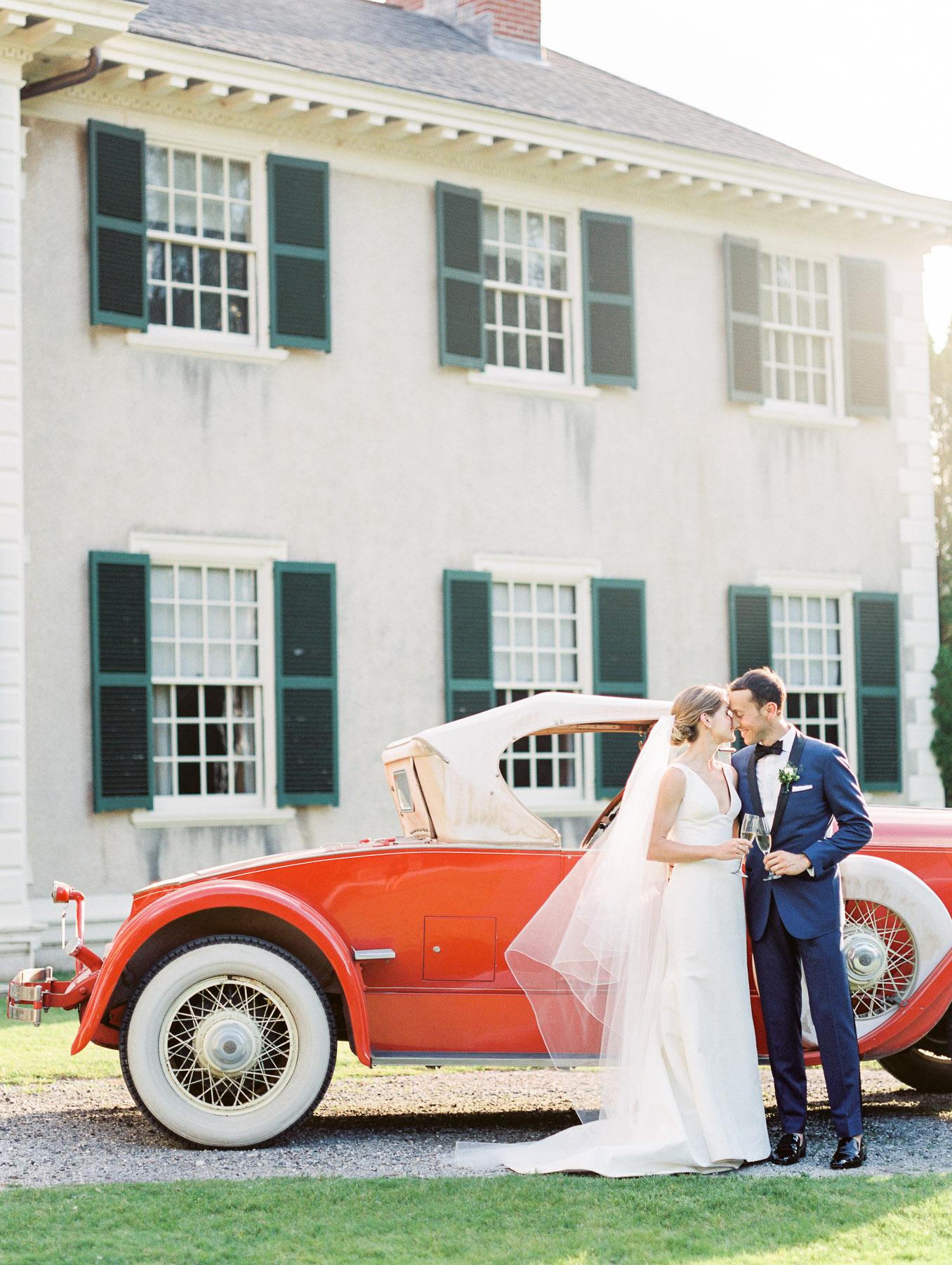 Manchester Vermont Wedding Hildene Estate Vintage Car