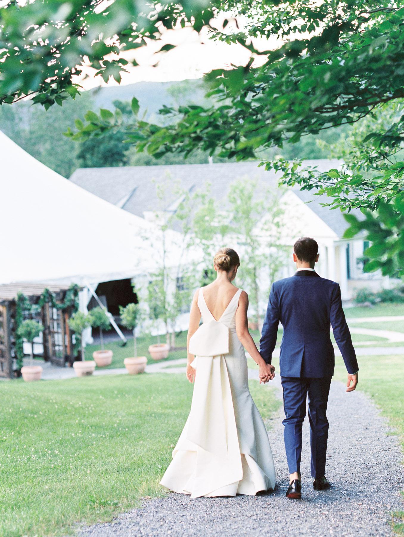 Manchester Vermont Wedding Hildene Estate Tented Reception Entrance