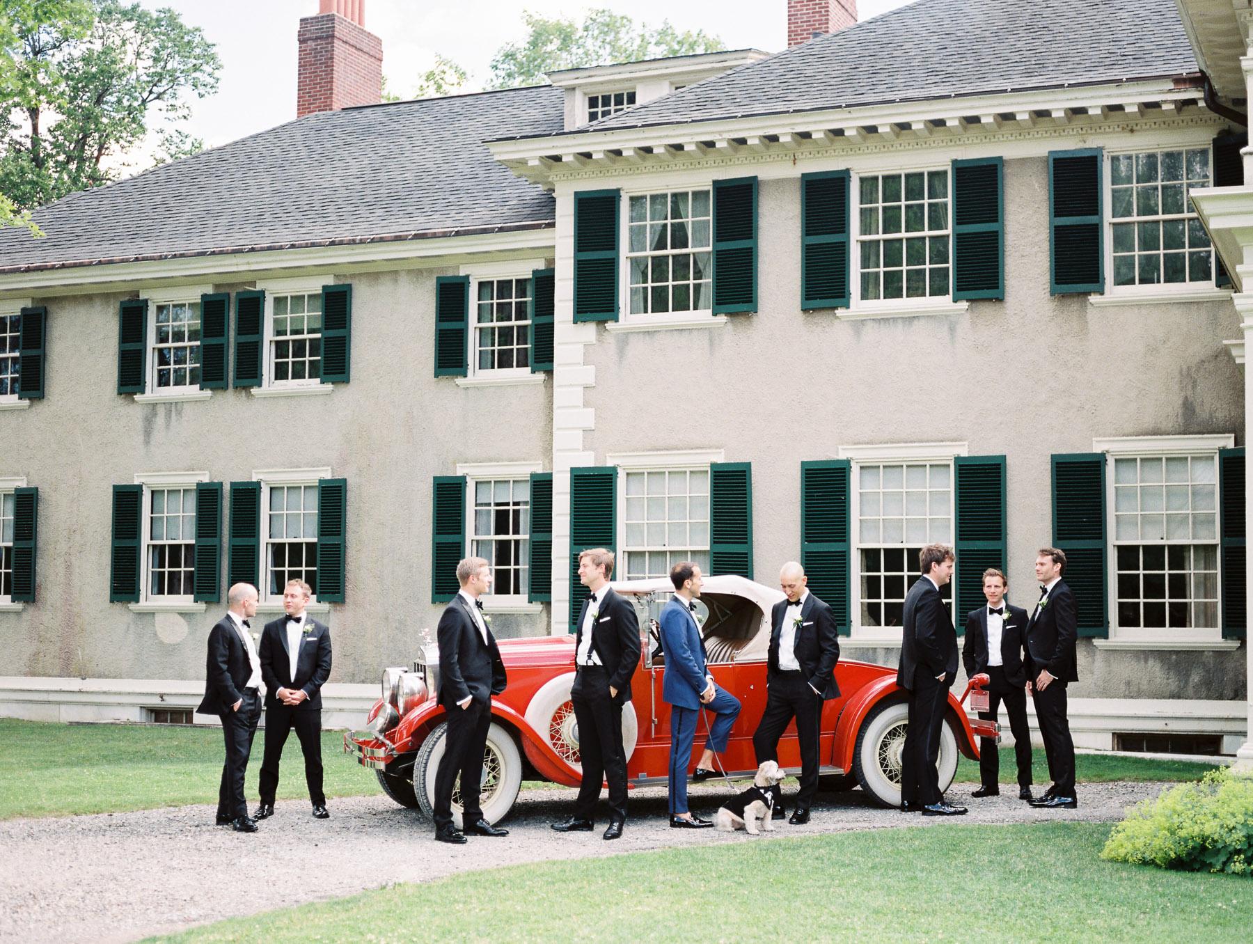 Manchester Vermont Wedding Groomsmen Portrait