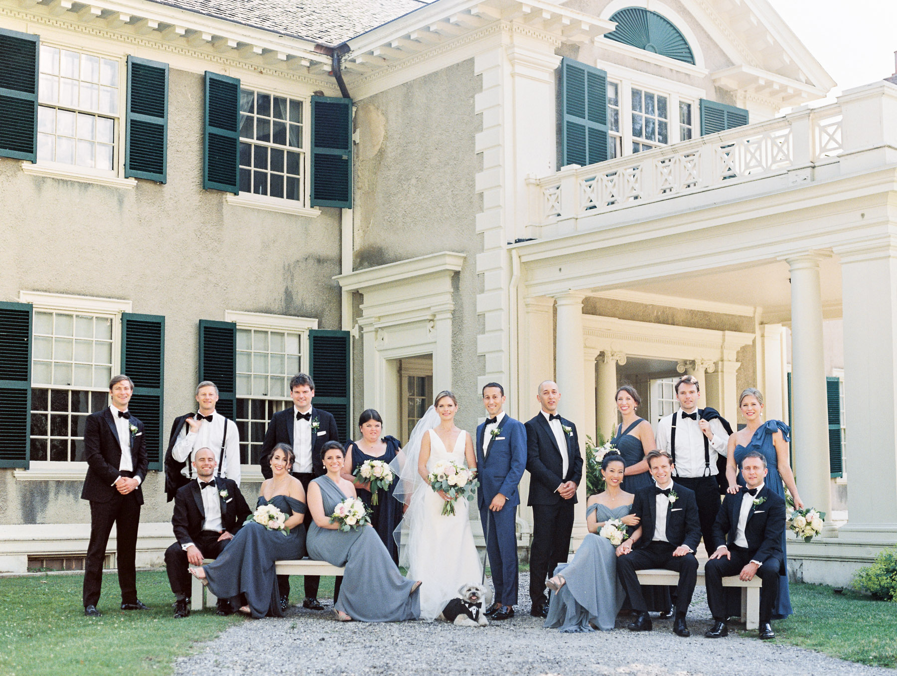 Manchester Vermont Wedding Amazing Bridal Party Photo at Hildene Estate