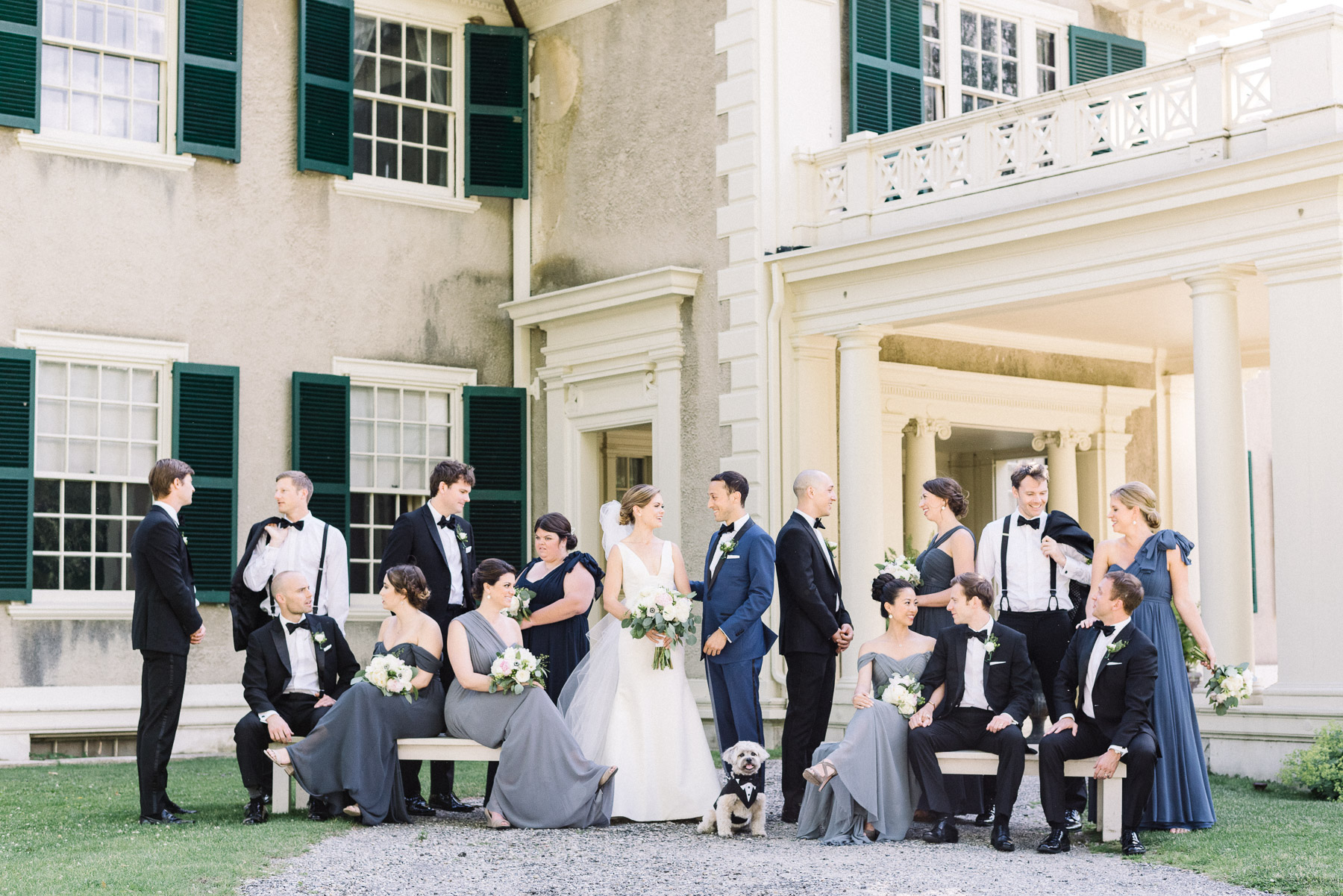 Manchester Vermont Wedding Bridal Party at Lincoln Family Home