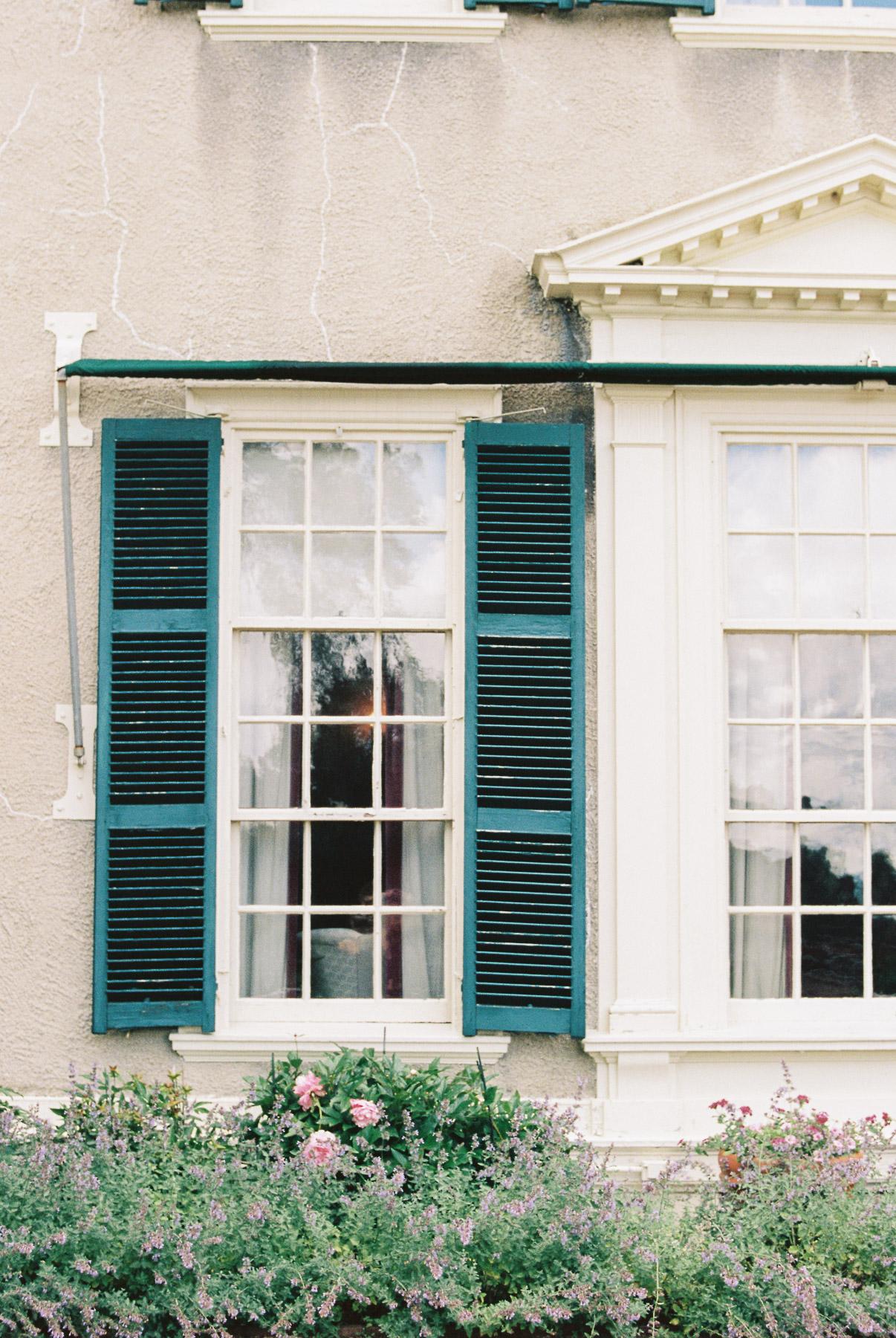 Manchester Vermont Wedding Historic Window at Hildene Estate