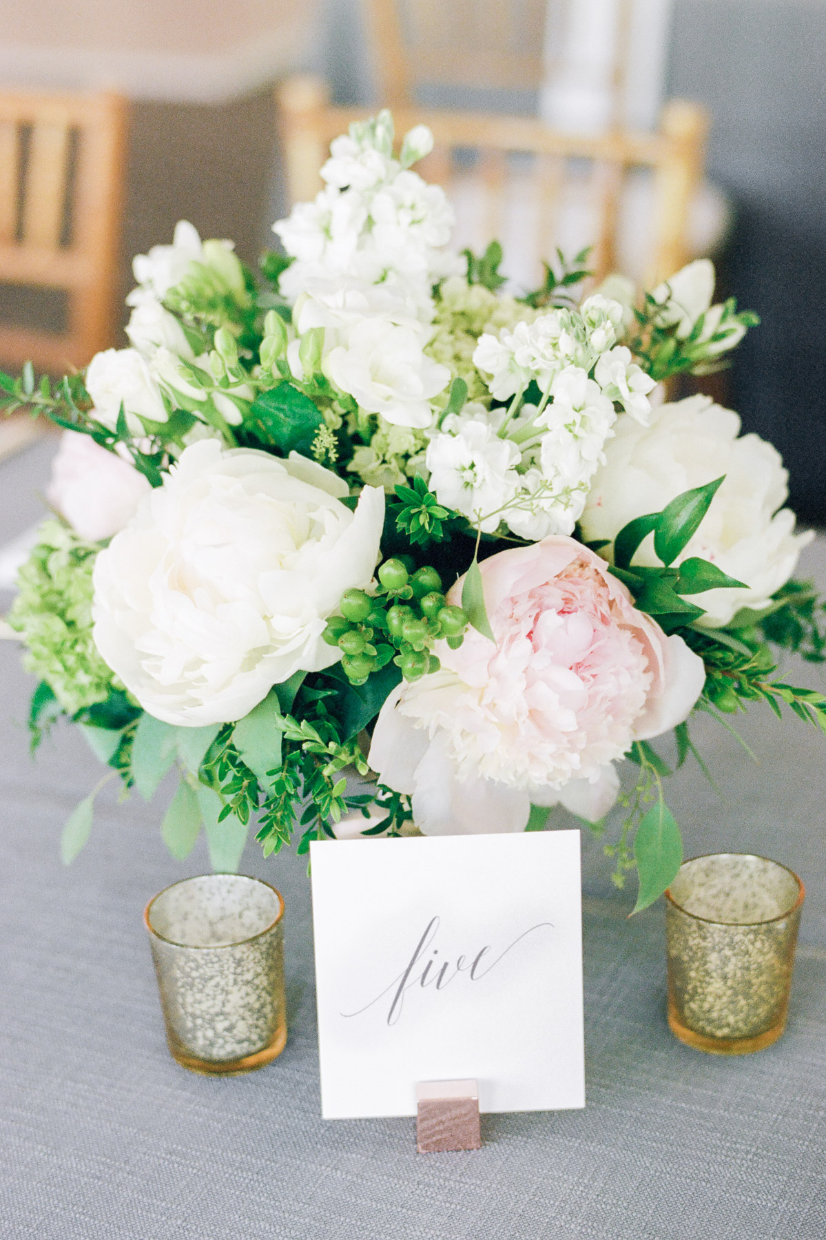 Manchester Vermont Wedding Hildene Estate Reception Tent Details with Lily of the Valley Florist