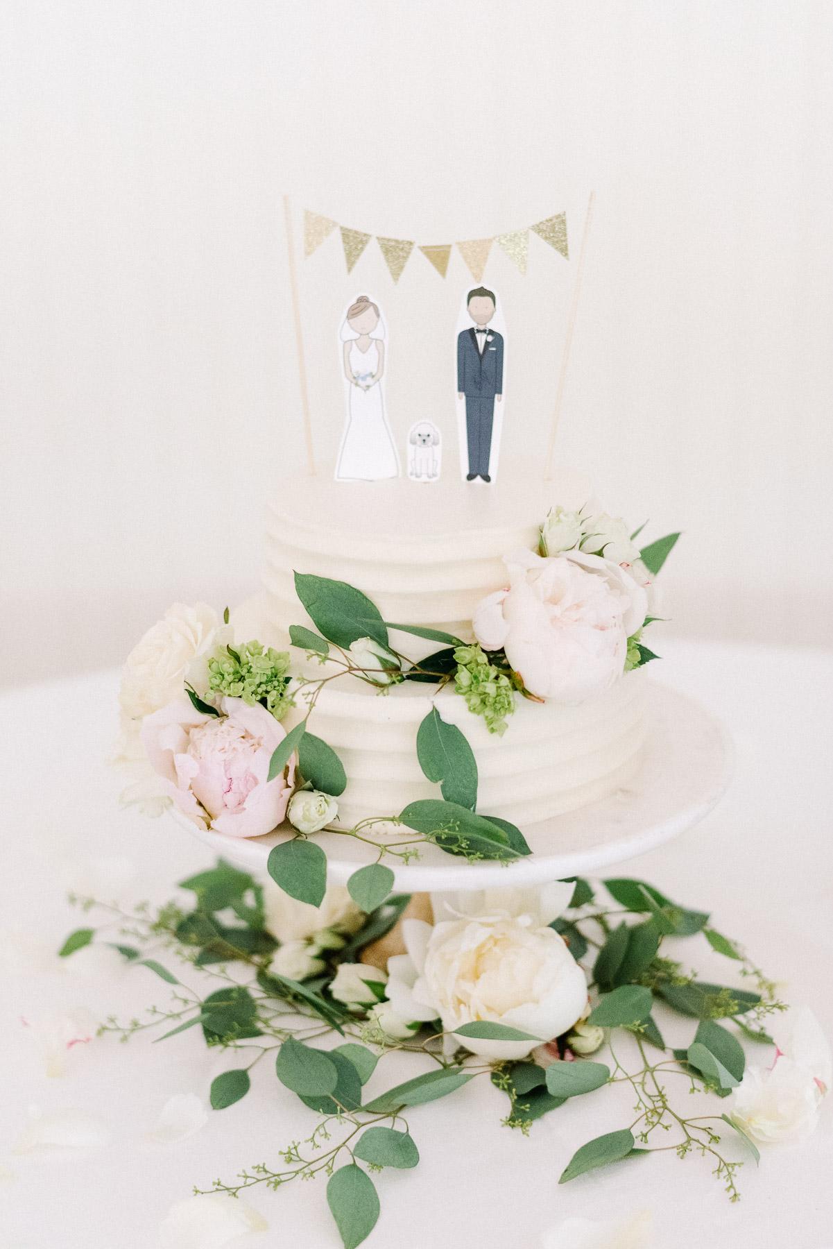 Manchester Vermont Wedding Hildene Estate Reception Tent Cake